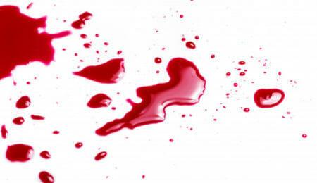 sangue automutilação